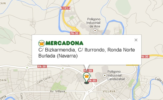 municipio de Burlada, entre la calle Bizkarmendia, la Ronda Norte y la calle Iturrondo
