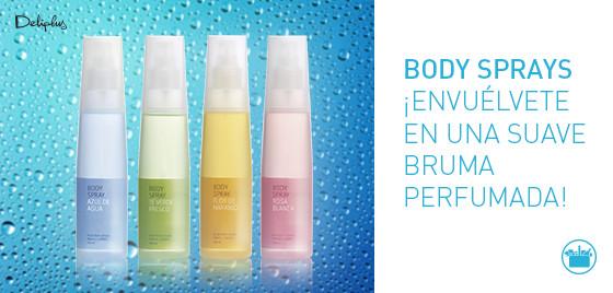 Body Sprays de Deliplus, agradables fragancias para perfumarte en un sólo gesto