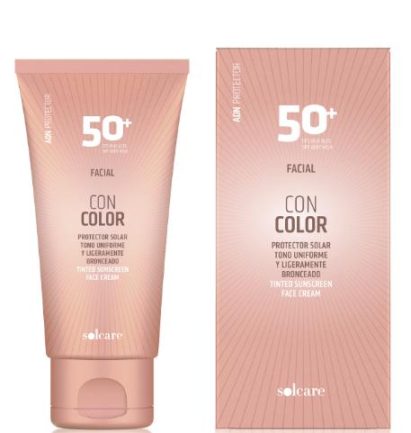 Protector facial con color FPS50+