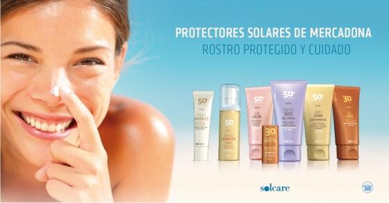 Protectores solares de Mercadona. Solcare