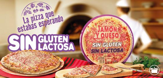 Nueva Pizza de Jamón y Queso, sin gluten y sin lactosa