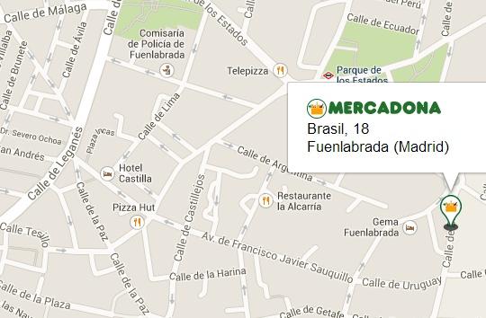 Mercadona en calle Brasil 18, fuenlabrada, Madrid