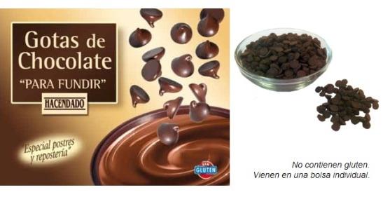 Gotas De Chocolate para Fundir. Hacendado