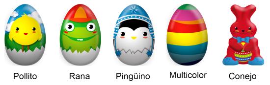 Huevos y conejo de Pascua Mercadona