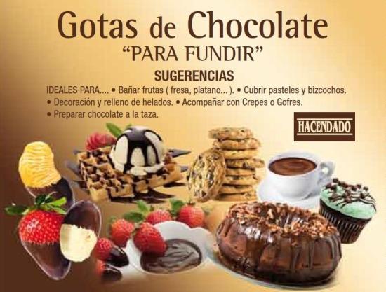 Gotas De Chocolate Hacendado. Sugerencias