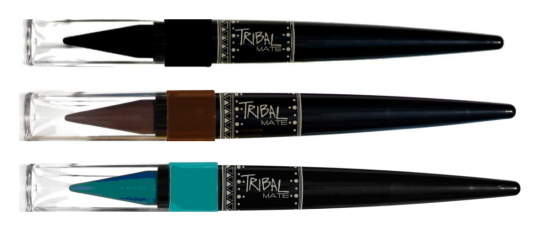 Lápiz de ojos Tribal Mate en color Nº01 Marrón ceniza, Nº02 Aguamarina y N03 Negro