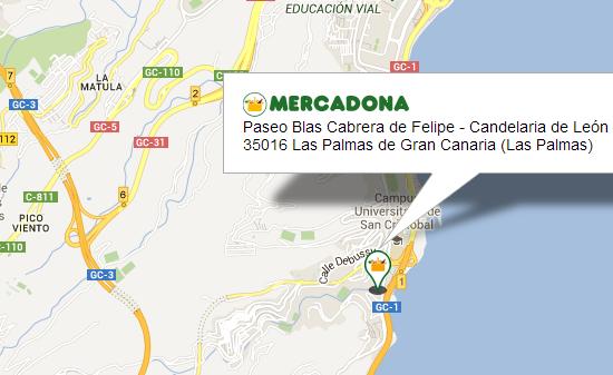 mercadona en  Las Palmas de Gran Canaria, entre las calles Paseo Blas Cabrera de Felipe y Candelaria de León