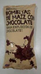 Bombitas de Maiz con chocolate. Hacendado