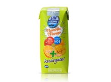 Fruta leche tropical naranja mango Hacendado