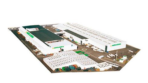 Vista aérea do armazém Cienpozuelos da Mercadona